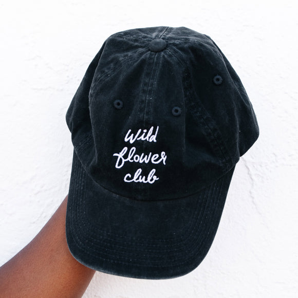 Wild Flower Club Hat - Black
