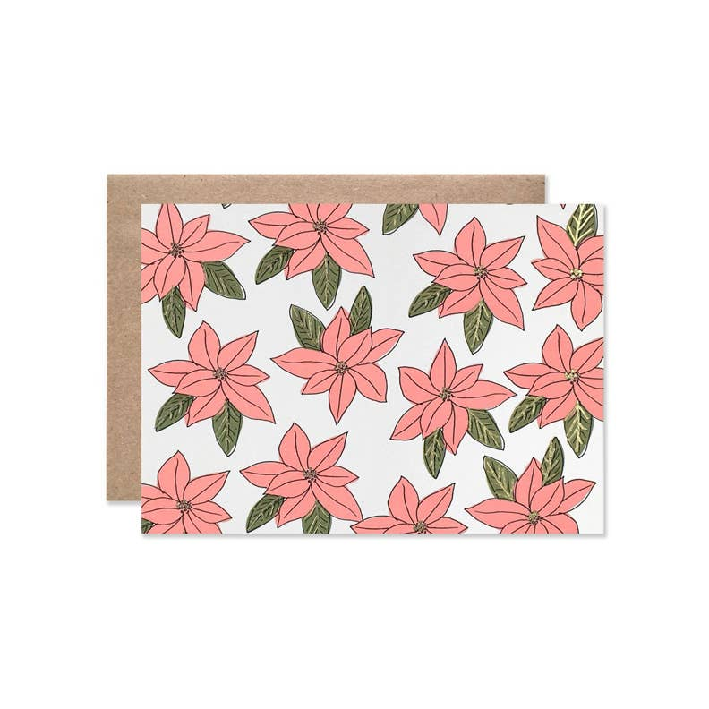 Pink Poinsettia Holiday Card | Hartland Brooklyn