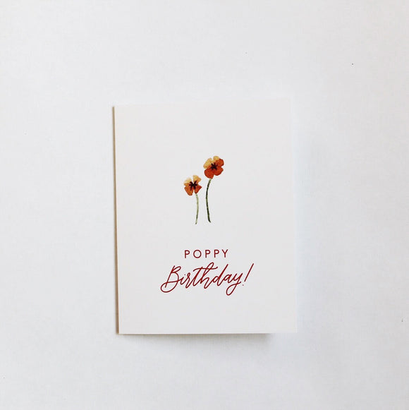 Poppy Birthday Card | Native Poppy