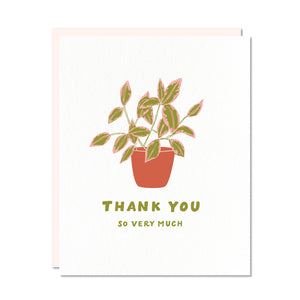 Thank You Card featuring potted houseplant