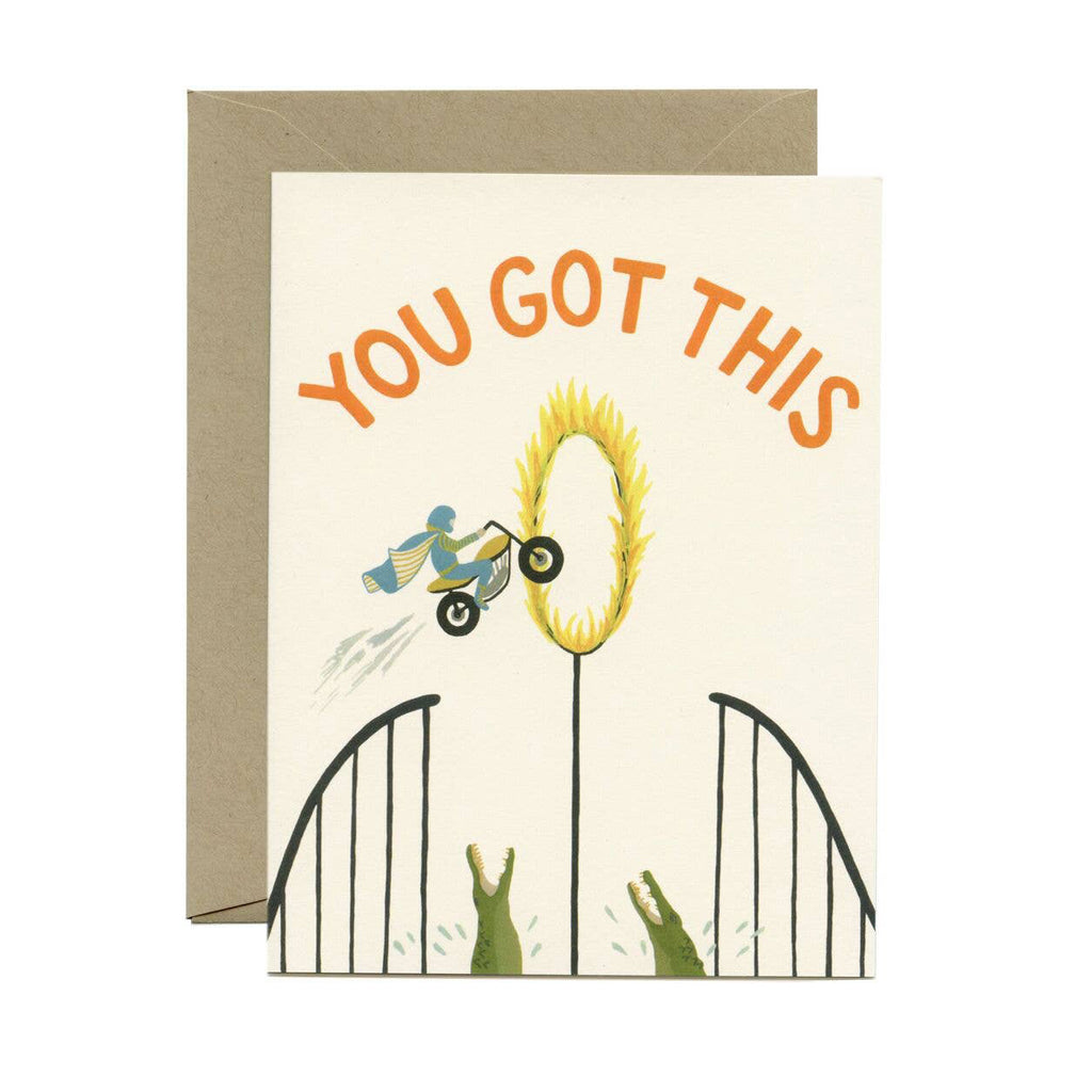 You Got This Card - illustrated motorcyclist doing stunts