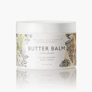 Citron Dream Butter Balm in a white jar