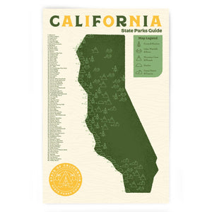California State Park Checklist art print