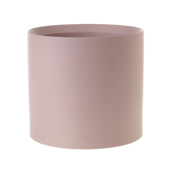 Extra large kendall pot - dusty pink modern cylinder planter