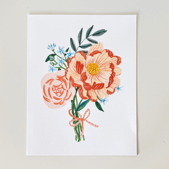 Florals for Freedom's Tweedia Coral Charm Art print