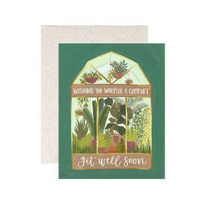 Get Well Greenhouse card from One Canoe Two