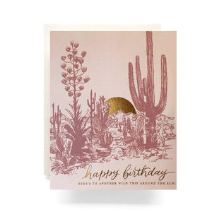 Happy Birthday Around the Sun Card | Antiquaria