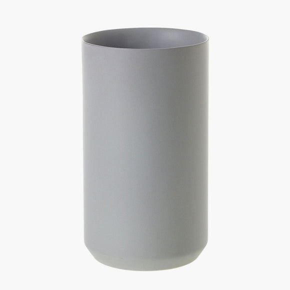 Grey ceramic vase - tall cylinder vase from Native Poppy