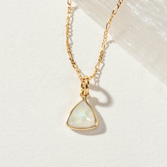 Moonstone triangle necklace from Luna Norte