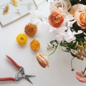 Spring Flower Arranging + Pressed Flower Frame Making
