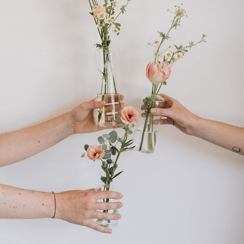 Bud Vases | Wedding Menu | Native Poppy