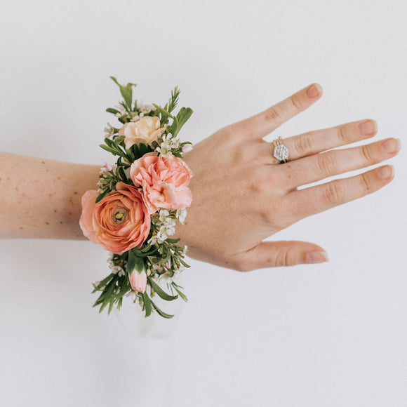 Flower corsage from Native Poppy in San Diego