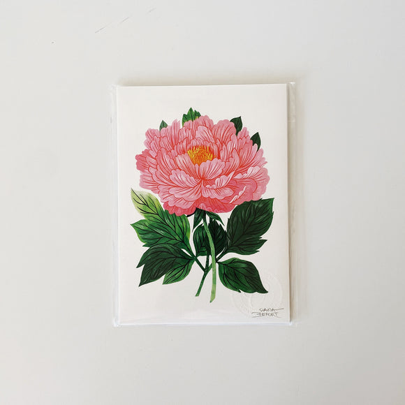 Illustrated peony art print