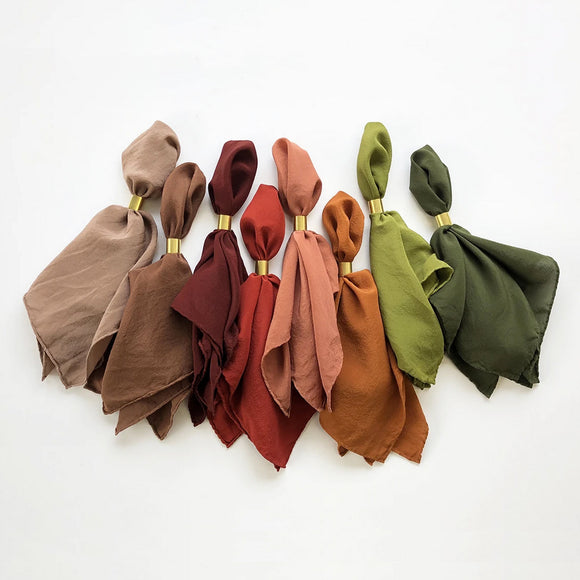 Tono silk scarves in varied shades