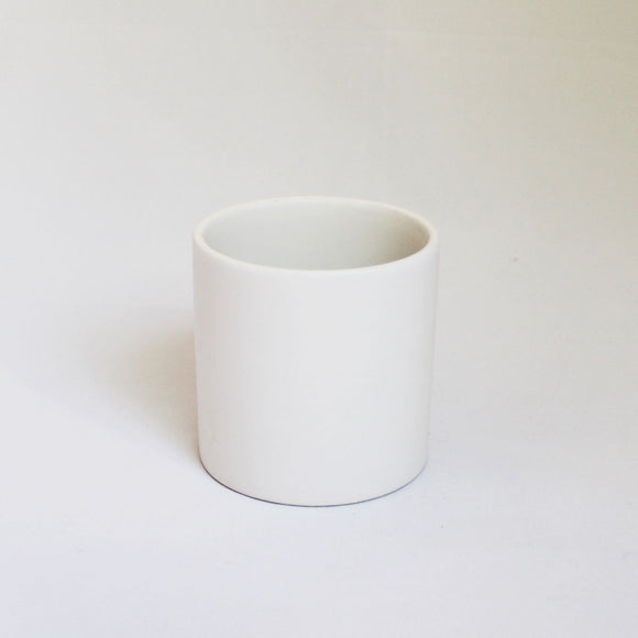 Cercle vase - Simple white ceramic pot