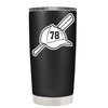 Baseball Bat and Hat 20 oz Tumbler