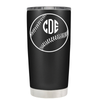 Baseball Monogram Design 20 oz Tumbler
