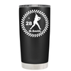 Baseball Player Personalized 20 oz Tumbler