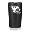 Baseball Flames Personalized 20 oz Tumbler