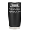 Warning Retired Person on Coffee 20 oz Tumbler