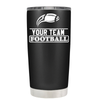 Personalized Football Team 20 oz Tumbler