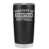 Property of Your Team Softball 20 oz Tumbler