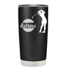 Personalized Female Golfer 20 oz Tumbler