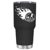 Baseball Flames Personalized 30 oz Tumbler