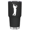 Golf Player Silhouette 30 oz Tumbler