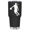 Basketball Girl Player Silhouette 30 oz Tumbler