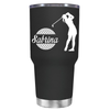 Personalized Female Golfer 30 oz Tumbler