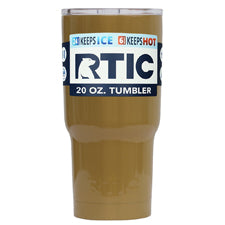 Customized RTIC Gold Gloss 20 oz Tumbler - TrekTumblers