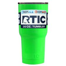 Customized RTIC Neon Green 20oz Tumbler - TrekTumblers