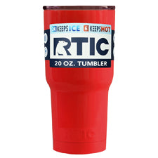 Customized RTIC Red Gloss 20oz Tumbler - TrekTumblers
