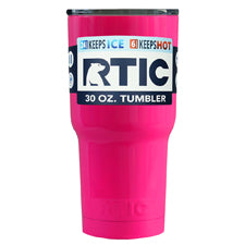 Customized RTIC Hot Pink 30 oz Tumbler - TrekTumblers