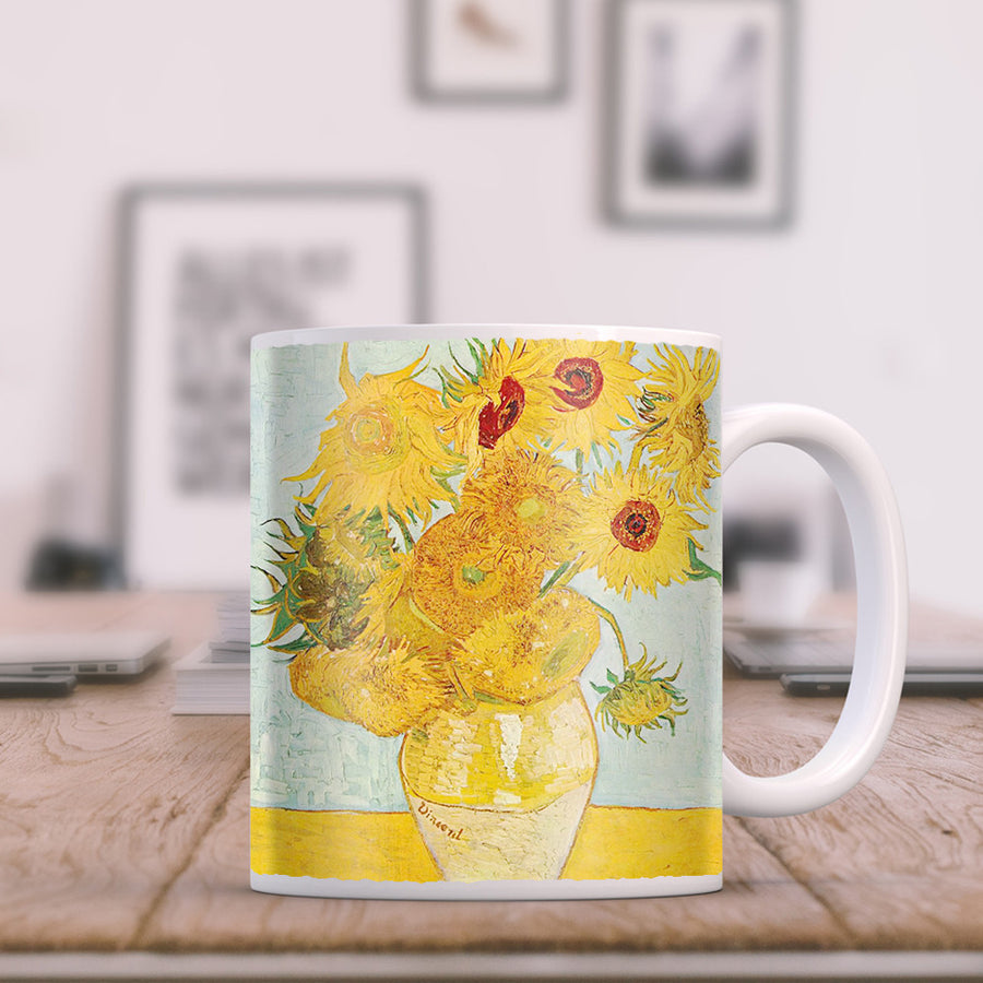 Van Gogh - Vase with Twelve SunFlowers 11oz Coffee Mug