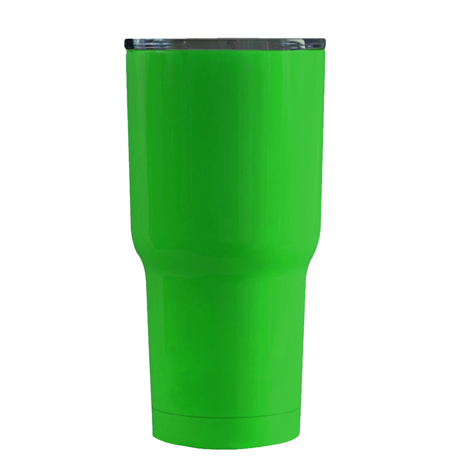 RTIC Green and Yellow Elf Suit on Green Gloss 20 oz Tumbler Cup