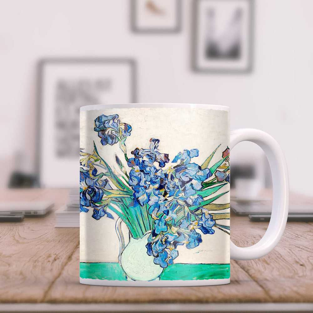 Van gogh irises in a vase 11oz coffee mug trektumblers van gogh irises in a vase 11oz coffee mug reviewsmspy