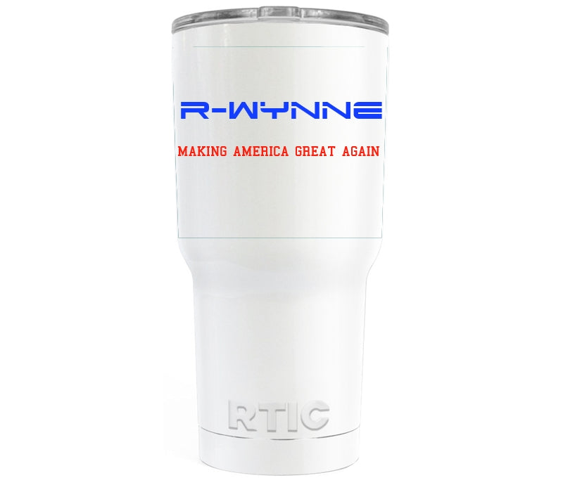 Custom Desigend RTIC White Gloss 30 oz Tumbler