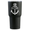 RTIC Anchor Personalized Laser Engraved on Black Matte 30 oz Tumbler