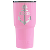 RTIC Anchor Personalized Laser Engraved on Pretty Pink 30 oz Tumbler