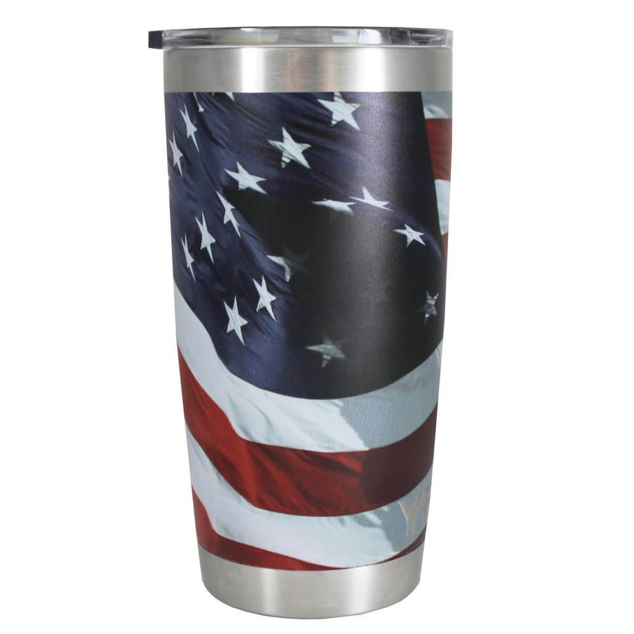 YETI 20 oz American Flag Flying Tumbler Rambler