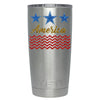 YETI Blue Star America on Stainless 20 oz Tumbler