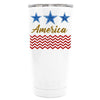 YETI Blue Star America on White 20 oz Tumbler