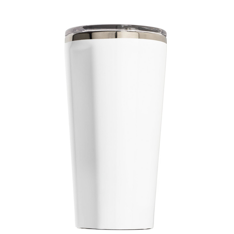 Corkcicle Ho Cubed with Hat on White 16 oz Tumbler Cup