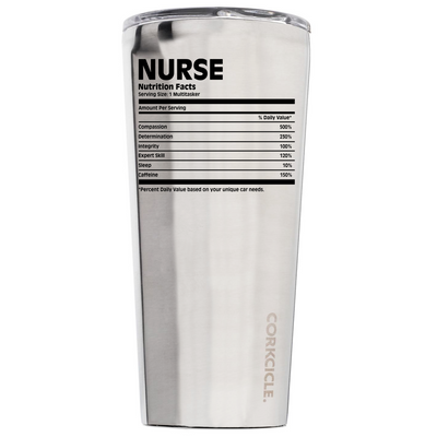 Corkcicle 24 oz Nurse Nutritional Facts on Stainless Tumbler