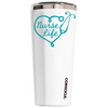 Corkcicle 24 oz Aqua Nurse Life on White Tumbler