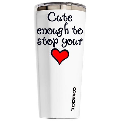 Corkcicle 24 oz Nurse Cute Enough To Stop Your Heart on White Tumbler