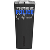 Corkcicle 24 oz I've Got His Six Police Girlfriend on Black Matte Tumbler