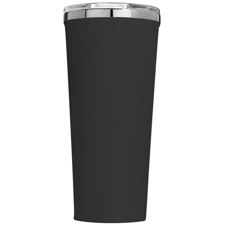 Corkcicle 24 oz  Retro USA Flag Police Thin Blue Line on Black Matte Tumbler